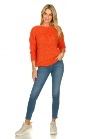 Les Favorites |  Knitted sweater Sabina | orange  | Picture 3