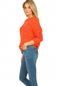 Les Favorites |  Knitted sweater Sabina | orange  | Picture 6