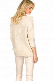 Les Favorites |  Knitted sweater Sabina | beige  | Picture 6