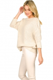 Les Favorites |  Knitted sweater Sabina | beige  | Picture 5