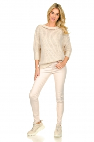 Les Favorites |  Knitted sweater Sabina | beige  | Picture 3
