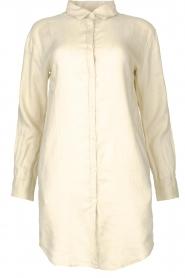 Blaumax |  Linen shirt dress Marylene | beige  | Picture 1
