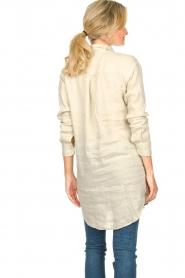Blaumax |  Linen shirt dress Marylene | beige  | Picture 6