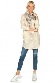 Blaumax |  Linen shirt dress Marylene | beige  | Picture 3