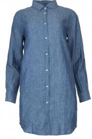Blaumax |  Linen shirt dress Marylene | blue  | Picture 1
