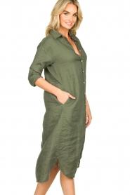 Blaumax |  Linen dress Maryann | green  | Picture 4