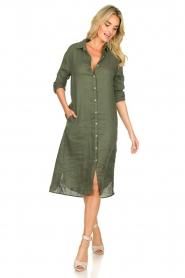 Blaumax |  Linen dress Maryann | green  | Picture 3