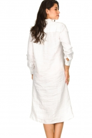 Blaumax |  Linen dress Maryann | white  | Picture 7
