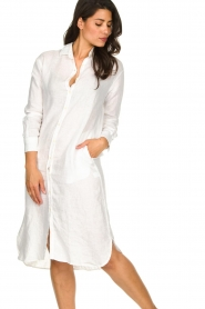Blaumax |  Linen dress Maryann | white  | Picture 4