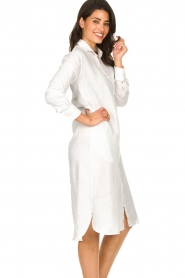 Blaumax |  Linen dress Maryann | white  | Picture 6