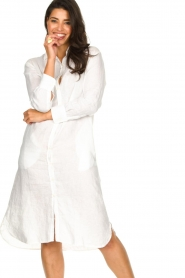 Blaumax |  Linen dress Maryann | white  | Picture 2