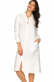 Blaumax |  Linen dress Maryann | white  | Picture 5