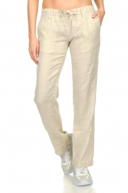 Blaumax |  Low waist linen pants Beach | beige  | Picture 2