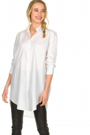 Blaumax |  Oversized blouse Marylou | white  | Picture 2
