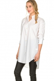 Blaumax |  Oversized blouse Marylou | white  | Picture 5