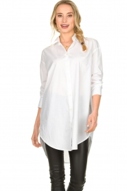 Blaumax |  Oversized blouse Marylou | white  | Picture 3