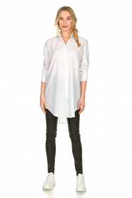 Blaumax |  Oversized blouse Marylou | white  | Picture 4