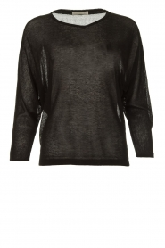 Blaumax |  Transparant longsleeve top Jill | black  | Picture 1