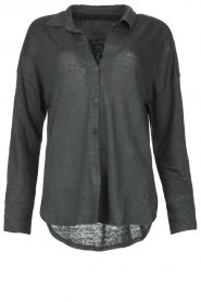Blaumax |  Linen blouse Maddy | black  | Picture 1