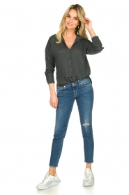 Blaumax |  Linen blouse Maddy | black  | Picture 3