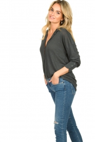Blaumax |  Linen blouse Maddy | black  | Picture 5