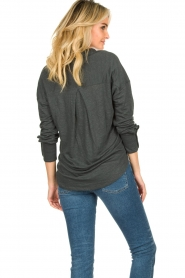 Blaumax |  Linen blouse Maddy | black  | Picture 6