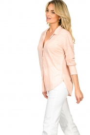Blaumax |  Linen blouse Maddy | nude  | Picture 4
