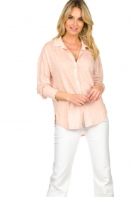 Blaumax |  Linen blouse Maddy | nude  | Picture 2