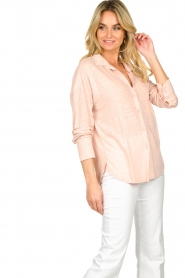 Blaumax |  Linen blouse Maddy | nude  | Picture 3
