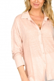 Blaumax |  Linen blouse Maddy | nude  | Picture 6