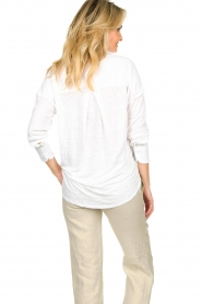Blaumax |  Linen blouse Maddy | white  | Picture 7