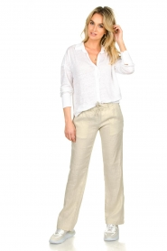 Blaumax |  Linen blouse Maddy | white  | Picture 3
