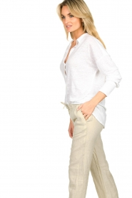 Blaumax |  Linen blouse Maddy | white  | Picture 6