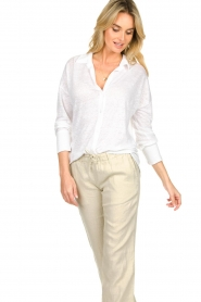 Blaumax |  Linen blouse Maddy | white  | Picture 4