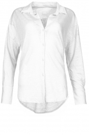 Blaumax |  Linen blouse Maddy | white  | Picture 1