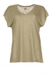 Blaumax |  Linen T-shirt Fine | green  | Picture 1