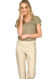 Blaumax    Linen T-shirt Fine   green    Picture 4