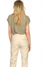 Blaumax |  Linen T-shirt Fine | green  | Picture 7