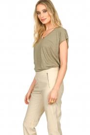 Blaumax |  Linen T-shirt Fine | green  | Picture 6