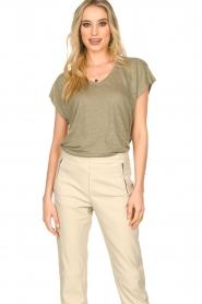 Blaumax |  Linen T-shirt Fine | green  | Picture 2