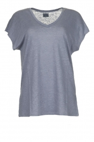 Blaumax |  Linen T-shirt Fine | blue  | Picture 1
