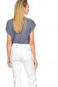 Blaumax |  Linen T-shirt Fine | blue  | Picture 6