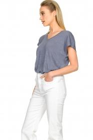 Blaumax |  Linen T-shirt Fine | blue  | Picture 5
