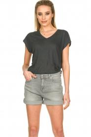 Blaumax |  Linen T-shirt Fine | black  | Picture 2