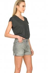 Blaumax |  Linen T-shirt Fine | black  | Picture 4