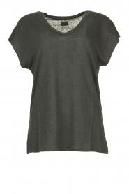 Blaumax |  Linen T-shirt Fine | black  | Picture 1