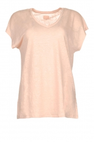 Blaumax |  Linen T-shirt Fine | nude  | Picture 1