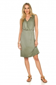 Blaumax |  Soft dress with V-neck Arezzo | green  | Picture 3