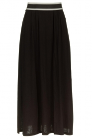 Blaumax |  Maxi skirt with elastic waistband Tigirs | black  | Picture 1