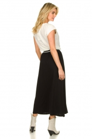 Blaumax |  Maxi skirt with elastic waistband Tigirs | black  | Picture 5